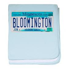 Bloomington License Plate baby blanket