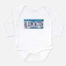 Bloomington License Plate Long Sleeve Infant Bodys