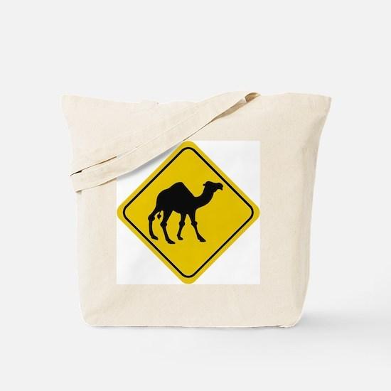 Camel Crossing Sign Tote Bag