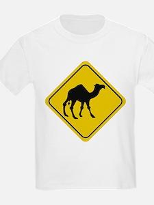Camel Crossing Sign Kids T-Shirt