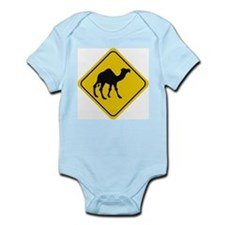 Camel Crossing Sign Infant Creeper