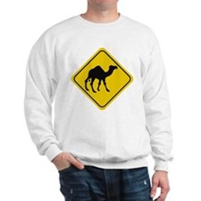 Camel Crossing Sign Sweatshirt