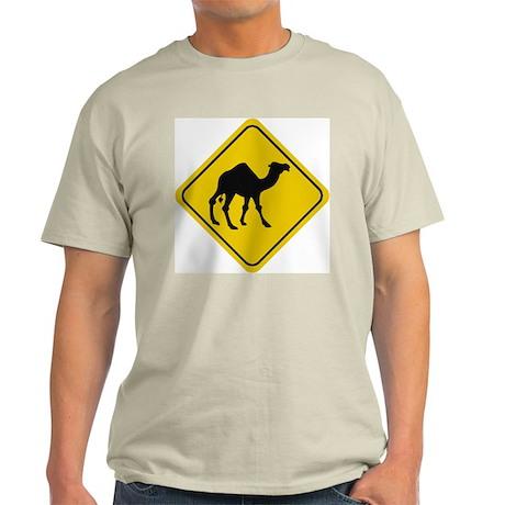 Camel Crossing Sign Ash Grey T-Shirt
