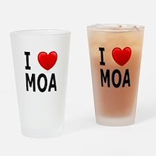 I Love MOA Drinking Glass