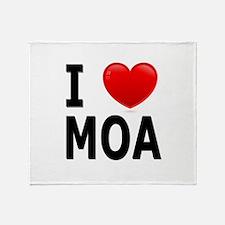 I Love MOA Throw Blanket