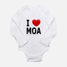 I Love MOA Long Sleeve Infant Bodysuit