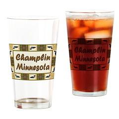 I Love Champlin Drinking Glass