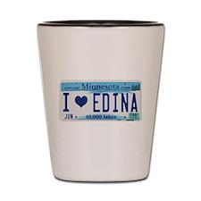 Edina License Plate Shot Glass