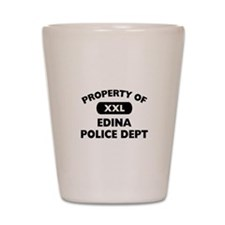 Property of Edina Police Dept Shot Glass