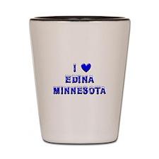 I Love Edina Winter Shot Glass