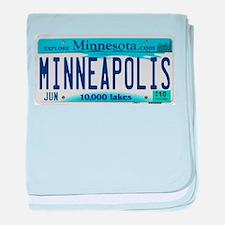 Minneapolis License baby blanket
