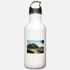 1950's Flower Gardens at Lori Water Bottle