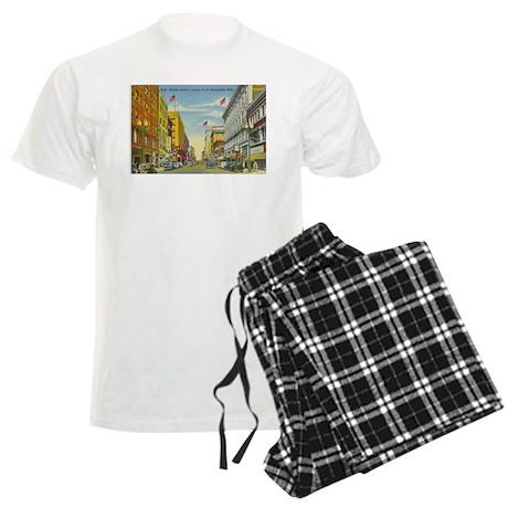 1940's Nicollet Avenue in Min Men's Light Pajamas