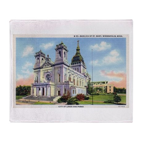 1935 Basilica of St. Mary's Throw Blanket