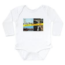 Unique Downtown Long Sleeve Infant Bodysuit