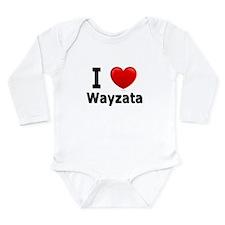 I Love Wayzata Long Sleeve Infant Bodysuit