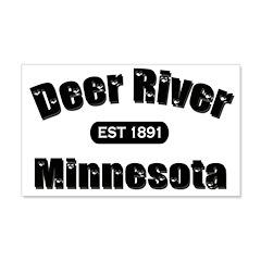 Deer River Established 1891 22x14 Wall Peel