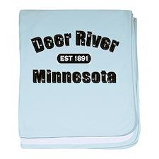 Deer River Established 1891 baby blanket