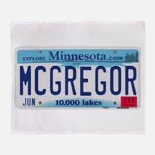 McGregor License Plate Throw Blanket