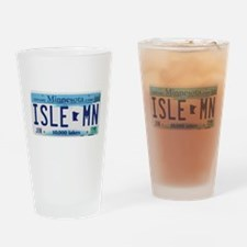 Isle License Plate Drinking Glass
