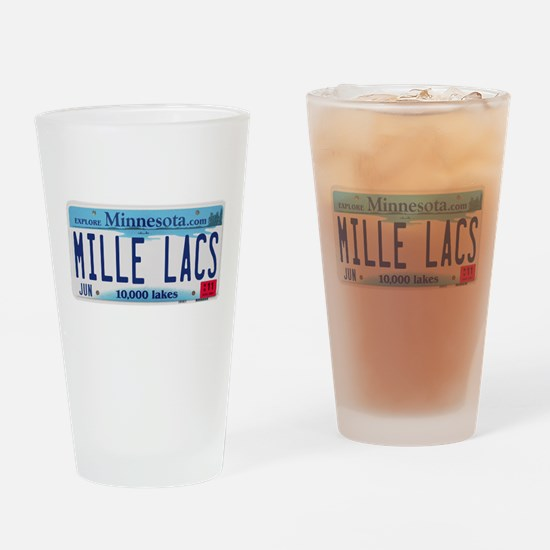 Mille Lacs License Plate Drinking Glass