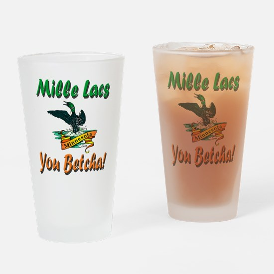 Mille Lacs You Betcha Drinking Glass