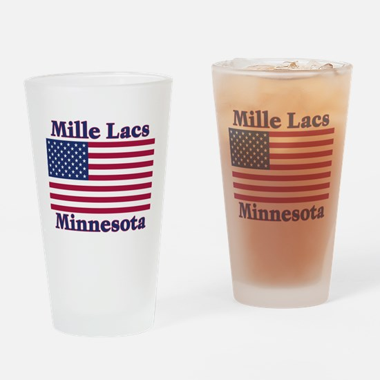 Mille Lacs US Flag Drinking Glass
