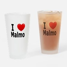 I Love Malmo Drinking Glass