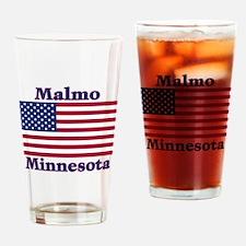 Malmo US Flag Drinking Glass