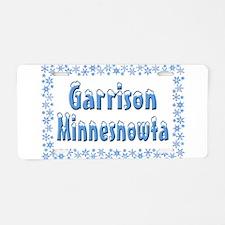 Garrison Minnesnowta Aluminum License Plate