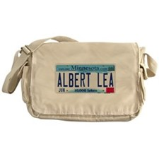 Albert Lea License Plate Messenger Bag