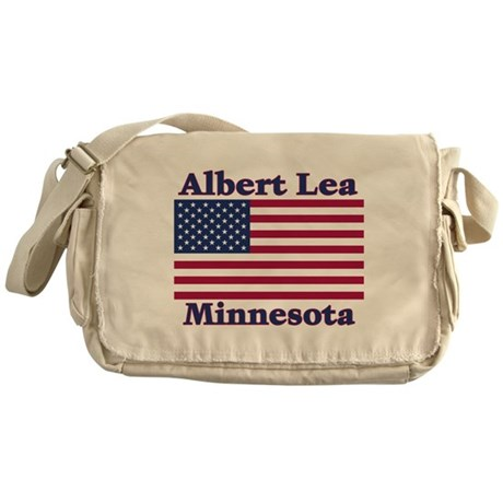 Albert Lea US Flag Messenger Bag