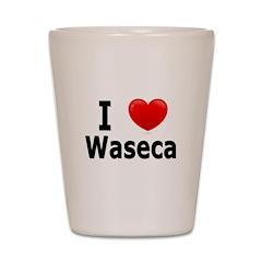 I Love Waseca Shot Glass