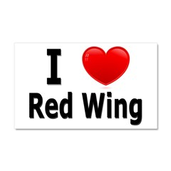 I Love Red Wing Car Magnet 20 x 12