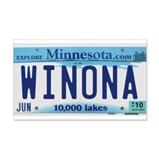 Winona License Plate 22x14 Wall Peel