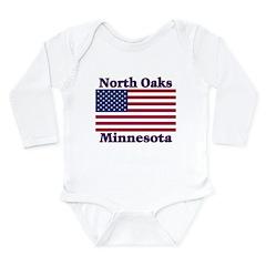 I Love North Oaks Long Sleeve Infant Bodysuit