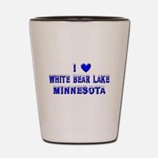 I Love White Bear Lake Winter Shot Glass