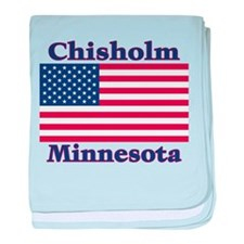 Chisholm US Flag baby blanket