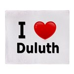 I Love Duluth Throw Blanket