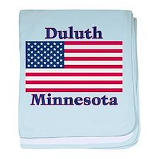 Duluth US Flag baby blanket