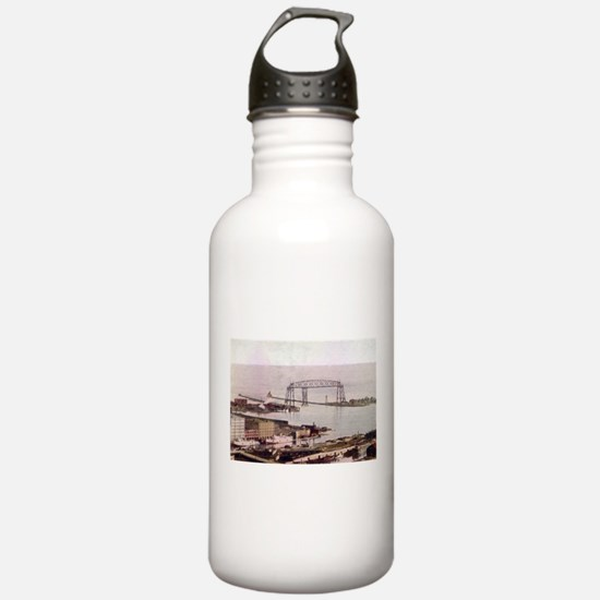 1905 Duluth Harbor and Aerial Water Bottle