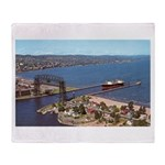 Duluth Harbor Throw Blanket