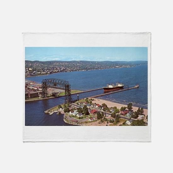 Duluth Harbor Throw Blanket
