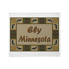 Ely Minnesota Loon Throw Blanket