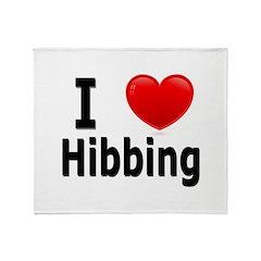 I Love Hibbing Throw Blanket