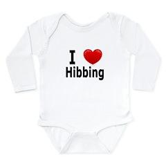 I Love Hibbing Long Sleeve Infant Bodysuit