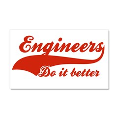 Engineers Do It Better Car Magnet 20 x 12