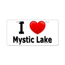 I Love Mystic Lake Aluminum License Plate