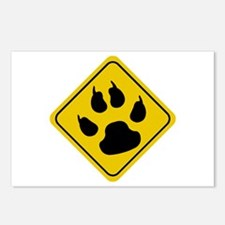 Cat Crossing Sign Postcards (Package of 8)