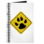 Cat Crossing Sign Journal